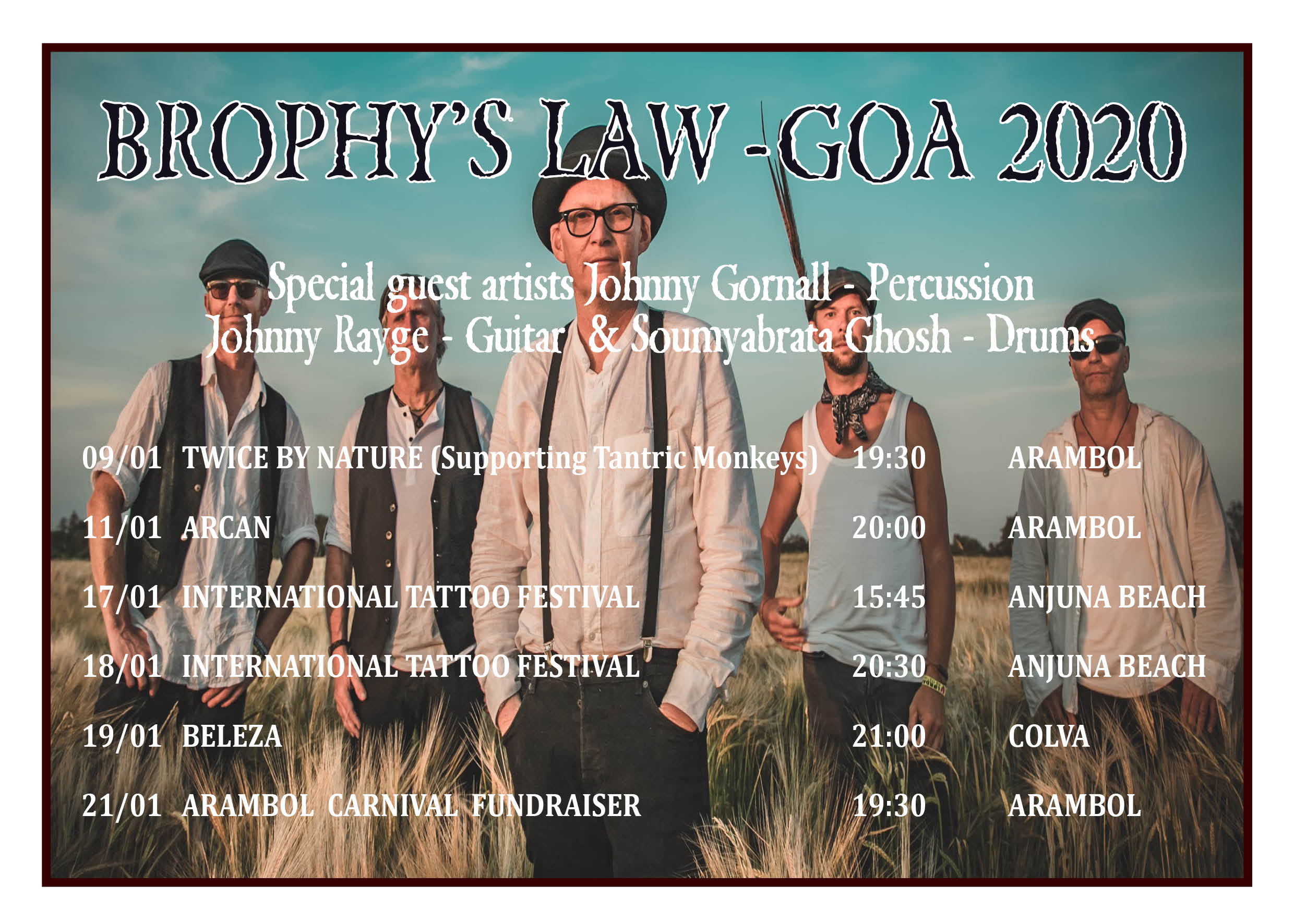 Brophy's Law Goa Tour